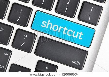 The Computer Keyboard Button Written Word Shortcut