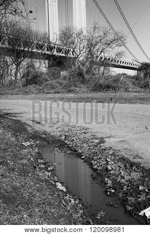 Verrazano-narrows Bridge Reflected