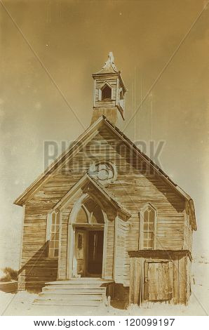 Aged Sepia Digital Grunge Distressed Effect Bodie State Historic Park