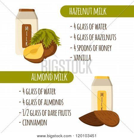 Vegetable milk recipes