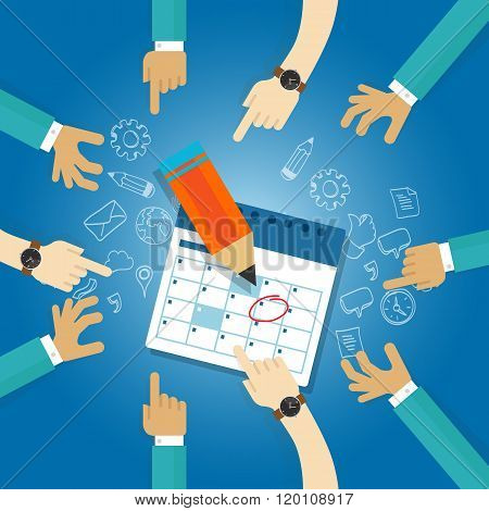 action plan calendar deadline target collaboration team meetings agenda business date milestone achi