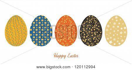 Vintage easter egg design set