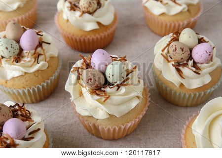 Homemade Easter Eggs Cupcakes