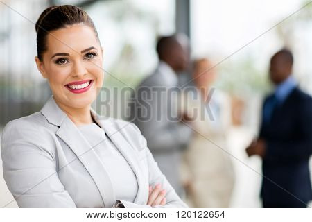 beautiful young businesswoman portrait in office