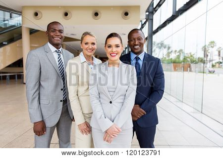 successful businesspeople team looking at the camera