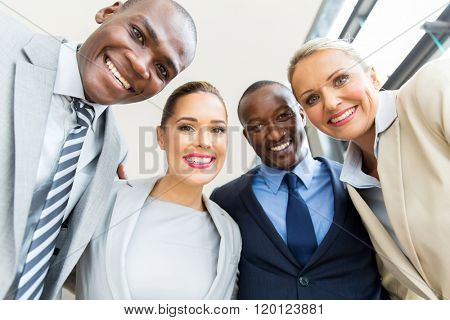 successful business group looking down