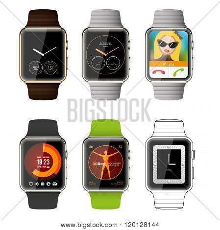 Application template for smartwatch