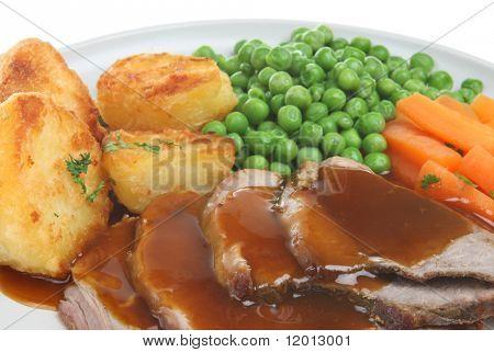 Roast lamb dinner