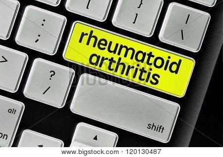 The Computer Keyboard Button Written Word Rheumatoid Arthritis