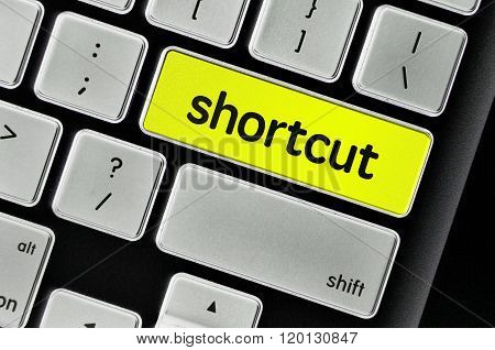 The Computer Keyboard Button Written Word Shortcut