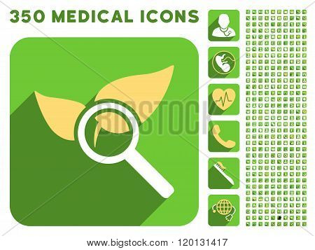 Explore Natural Drugs Icon and Medical Longshadow Icon Set