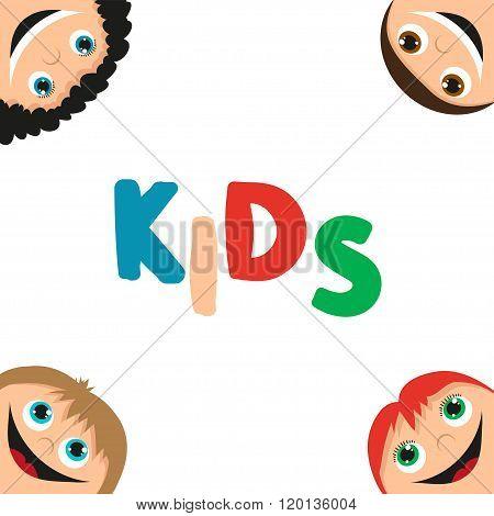 kids faces frame