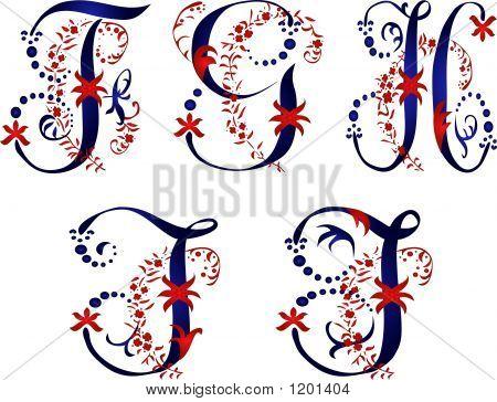 Alphabet Fghij