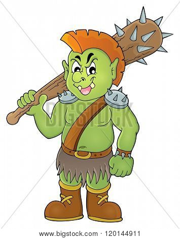 Orc theme image 1 - eps10 vector illustration.