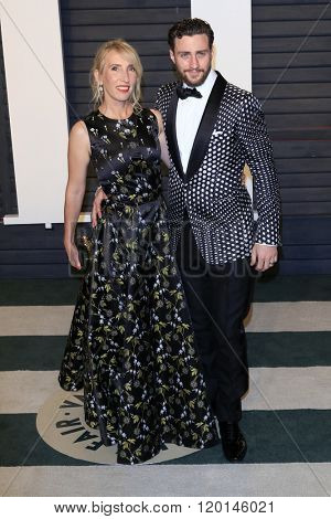 LOS ANGELES - FEB 28:  Sam Taylor-Johnson, Aaron Taylor-Johnson at the 2016 Vanity Fair Oscar Party at the Wallis Annenberg Center for the Performing Arts on February 28, 2016 in Beverly Hills, CA