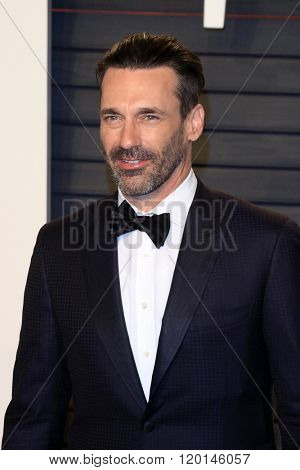 LOS ANGELES - FEB 28:  Jon Hamm at the 2016 Vanity Fair Oscar Party at the Wallis Annenberg Center for the Performing Arts on February 28, 2016 in Beverly Hills, CA
