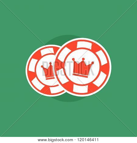 Poker chips. Poker chips concept. Poker vector illustration. Poker chips isolated. Poker sign on gre