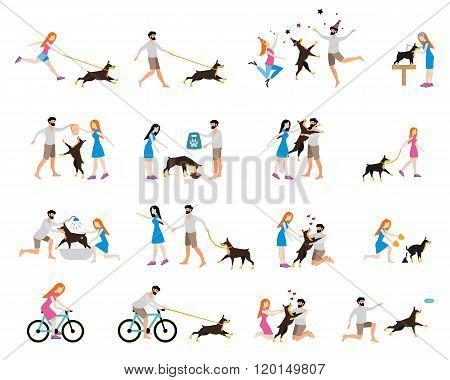 Professional dog walking.
