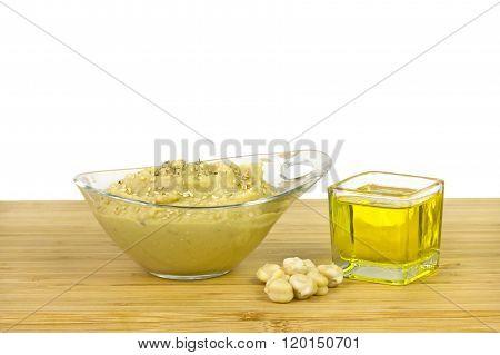 Isolated hummus food