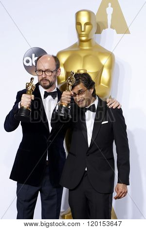 LOS ANGELES - FEB 28:  James Gay-Rees, Asif Kapadia at the 88th Annual Academy Awards - Press Room at the Dolby Theater on February 28, 2016 in Los Angeles, CA