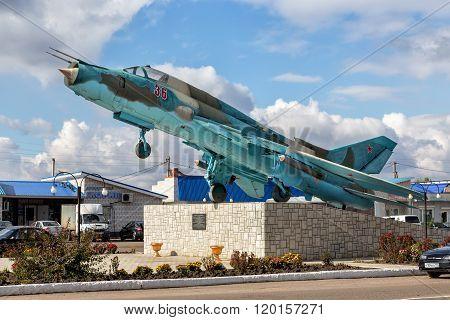 Sukhoi Su-17. Monument. Panino. Russia