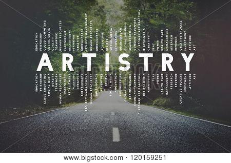 Art Artist Artistry Craft Talent Creativity Concept poster
