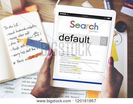 Default Digital tablet Meaning Concept