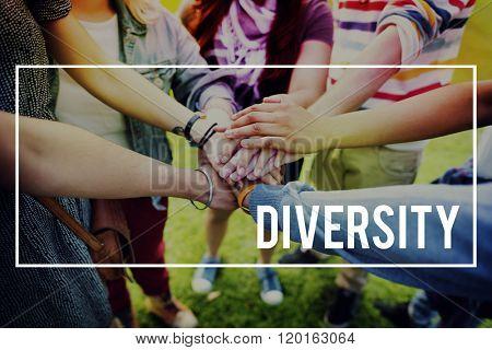 Diversity Multi Racial Community People Concept
