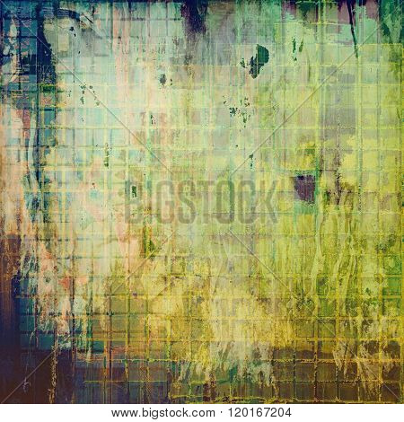 Ancient grunge background texture. With different color patterns: yellow (beige); brown; green; blue; gray