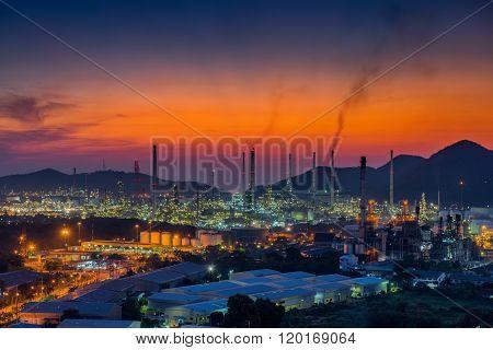 Luminosity Of Oil Refinery Plant.