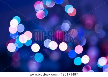 Festive Bokeh Background Of A Blurred City Lights