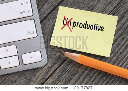 change of unproductive to productive