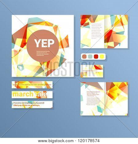 Set of print and digital layouts