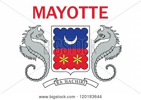 Standard Proportions and Color for Mayotte Flag poster