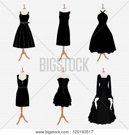 Woman Black Dresses