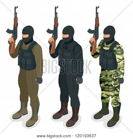 Spec ops police officers SWAT in black uniform Soldier, officer, sniper, special operation unit, SWA
