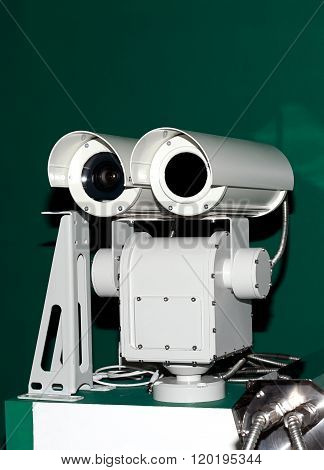 TV eye optical observation in a white secure metal case