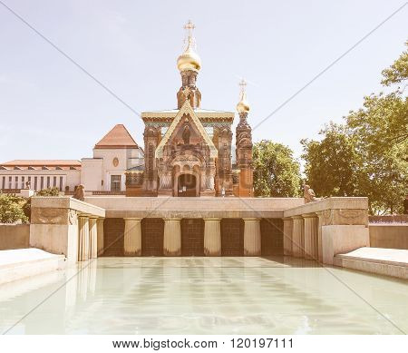 Russian Chapel In Darmstadt Vintage