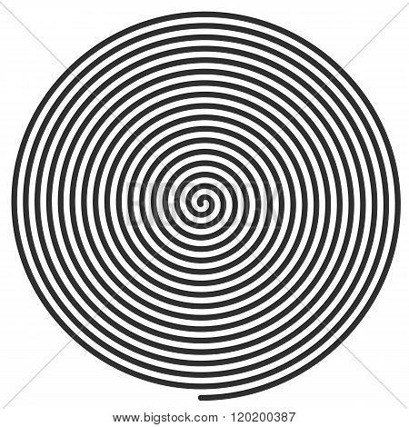 Vector illustration large spiral.