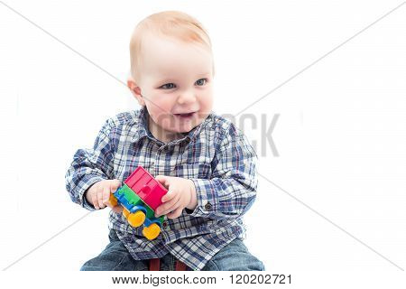 Little Child Play With Toy