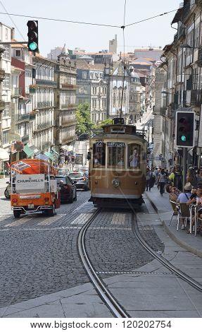 Tram In Clerigos Street