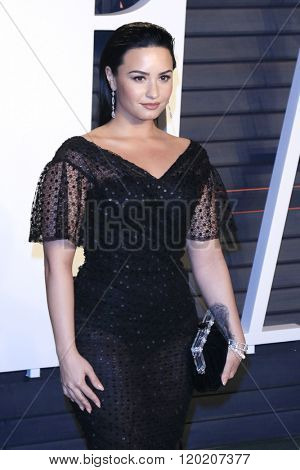 BEVERLY HILLS - FEB 28: Demi Lovato at the 2016 Vanity Fair Oscar Party on February 28, 2016 in Beverly Hills, California