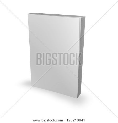 Paperback Book Template With Blank Cover.