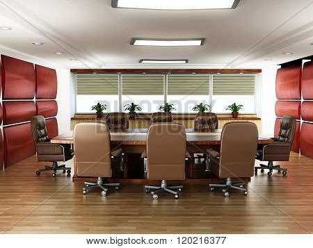 Boardroom With No People
