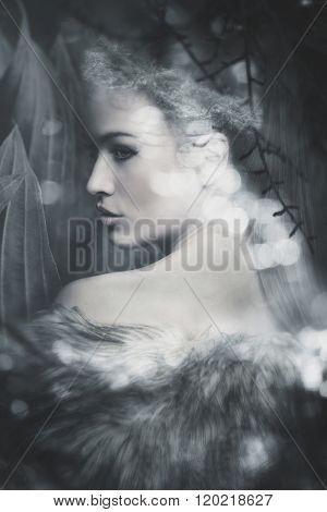fantasy fairy beautiful woman portrait composite photo