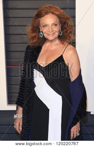 BEVERLY HILLS - FEB 28: Diane von Furstenberg at the 2016 Vanity Fair Oscar Party on February 28, 2016 in Beverly Hills, California