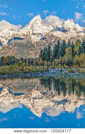 Fall Reflections in the Tetons
