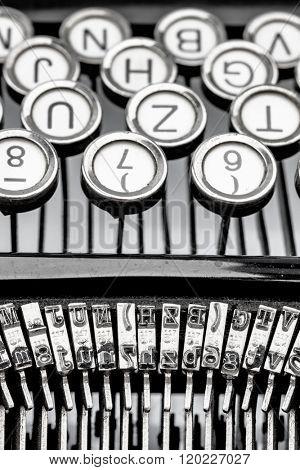 a typewriter keyboard