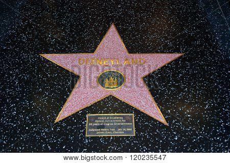 Disneyland Hollywood Star