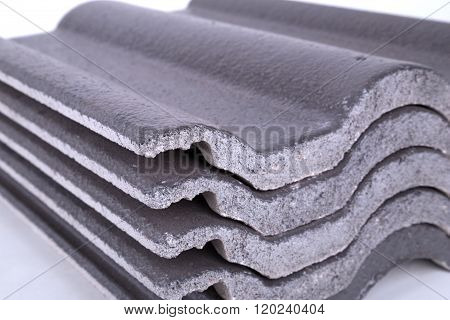 Stack Of Concrete Roof Tile (gray)